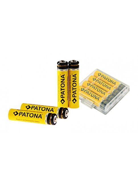 PATONA Micro batteria 4x AAA MICRO LR3 900mAh