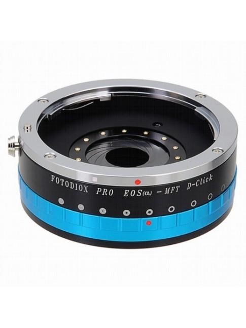 Fotodiox Pro Adapter per obiettivi EF su videocamere MFT con anello diaframmi ad apertura continua