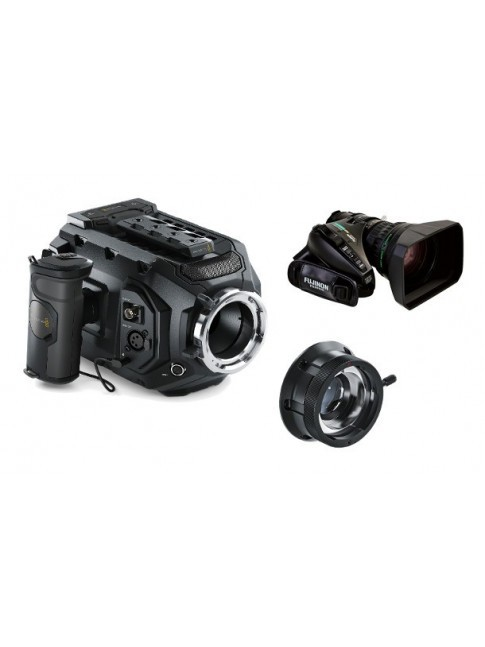 Blackmagic URSA Mini 4.6K PL KIT with B4 mount adapter and 20x Fujinon XA20sx8.5BRM-K3 zoom lens