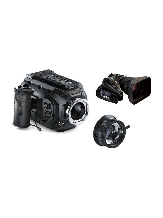 Blackmagic URSA Mini 4.6K PL KIT with B4 mount adapter and 20x Fujinon XA20sx8.5BRM-K3 zoom lens